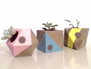 Image for Craft Sunday: Concrete planters with Who Art Thou}