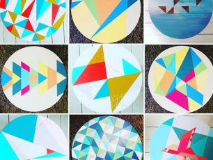 Image for Craft Sunday: Hand painted wooden trays with Happy Retro Furniture}