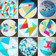 Image for Craft Sunday: Hand painted wooden trays with Happy Retro Furniture