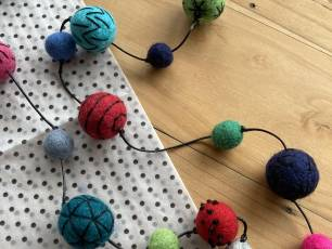 Image for Craft Sunday online: Needle Felted Necklaces with Syrah Jay}