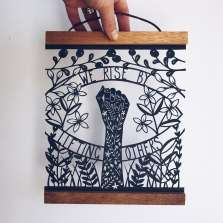 Image for Craft Sunday online: Paper Cutting with Louise McLaren