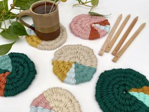 Image for Craft Sunday online: Woven Coasters with Le Petit Moose}