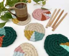 Image for Craft Sunday online: Woven Coasters with Le Petit Moose