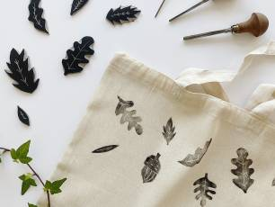 Image for Craft Sunday: Lino Printed Tote Bags with Juniper Press}