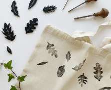 Image for Craft Sunday: Lino Printed Tote Bags with Juniper Press
