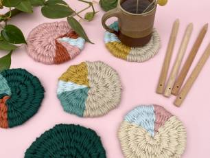 Image for Craft Sunday: Woven Coasters with Le Petit Moose}
