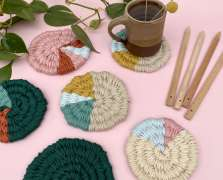 Image for Craft Sunday: Woven Coasters with Le Petit Moose